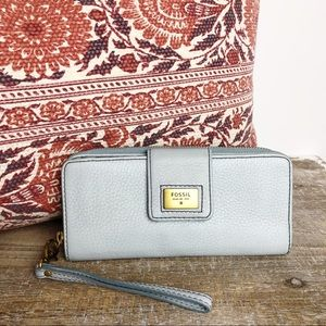 Fossil Zippered Wallet Wristlet